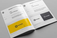 book template design 10 Great Beautiful Brand Book Templates to Present Your Branding .