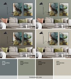Populære malingsfarger fra Jotun Lady som passer til bildene Living Room Green, Bedroom Green, Living Room Colors, Living Room Paint, Bedroom Colors, Home And Living, Wall Paint Colors, Paint Colors For Home, House Colors