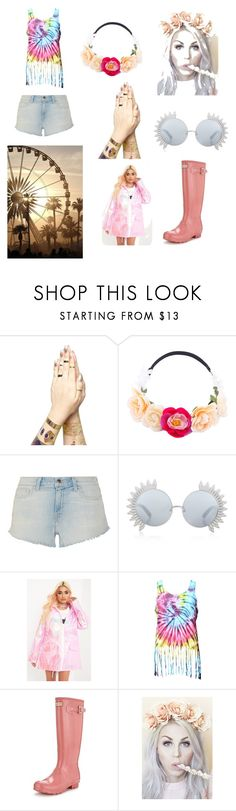 Festival in the Pink by ails-1 on Polyvore featuring L'Agence, Hunter, Linda Farrow, Lulu in the Sky and longhotsummer