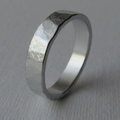 Men's textured aluminum wedding ring mens gift unique wedding band mid width on Etsy, $70.00