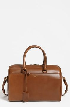 $1,990, Duffle 6 Medium Leather Satchel by Saint Laurent. Sold by Nordstrom.