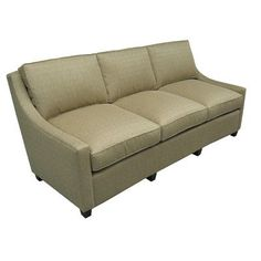 International Concepts Sydney Tea Time Sofa Frame Finish: Antique Pine, Upholstery: Ocean