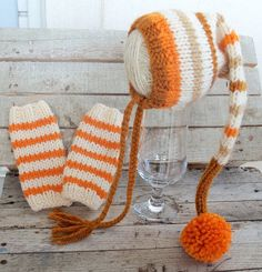 Stripped Baby Legwarmers - Knit Baby Leg Warmers - Newborn Leggings - Newborn Legwarmers - Winter Legwarmers- Choose any colors. $18.00, via Etsy.