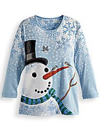 Festive Tops ~ Holiday All Over Art Tee by Blair