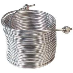 Stainless Steel Cooling Coil, Left Hand, 50' x 5/16