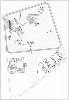 JOHN HEJDUK - VICTIMS, 1986 NEW SITE PLAN - SITE HAD FORMERLY CONTAINED TORTURE CHAMBERS DURING WWII