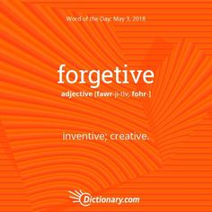 Today's word of the day is forgetive. . Read the full definition, example sentences, and origin using the link in bio. #wordoftheday…