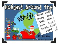 I LOVE teaching Holidays Around the World for the last two weeks before the winter break. I have just updated my pack - it contains TWELVE countries to learn how they celebrate the holiday.