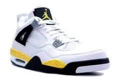 cheap for discount 62dbf 586df Air Jordan 4 (IV) Retro LS -White Tour Yellow-Dark Blue-Black-Grey the  padded collar will protect your feet better while the rubber outsole is for  great ...