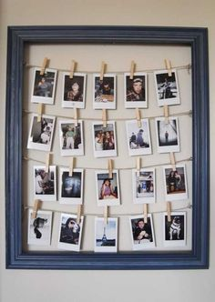 Cute DIY Room Decor Ideas for Teens - DIY Bedroom Projects for Teenagers - DIY Photo Frame Tutorial: