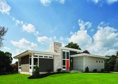 Love this modern/mid-century design home