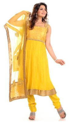 G3 fashions Gold Orange Net Wedding Wear Designer Salwar Suit  Product Code : G3-LSA104646 Price : INR RS 4870