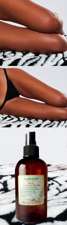 This nutritive body serum has soothing properties to not only moisturize the skin, but to help develop that golden tan and sun kissed looking. This mixture of 13 different types of oils may also improve your skin's elasticity and neutralize skin imbalances. This formula is the best natural support for tanning proposes.