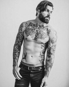 Bearded Tattooed Men, Bearded Men, Taylor Kinney Chicago Fire, Hipster Man, Inked Men, Tattoo Set, Hot Tattoos, Sexy Men, Hot Guys
