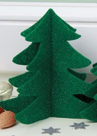 Free Sewing Pattern: Felt Christmas Trees