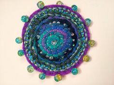 Handmade Textile Brooch 1 OOAK by JonKaniaDesigns on Etsy, $20.00