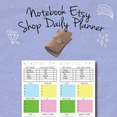 Midori Etsy Shop Daily Planner, Small Business, Fauxdori, Travelers Notebook Insert,Leather Notebook Refill, PDF, Etsy Business Planner by BrookeEvahPrints on Etsy