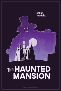 If you are going to go to the effort to create a great piece of art, you should at least get the story straight.  That is the famous Hat Box Ghost. He is looming over The Haunted Mansion from Walt Disney World.  He is only a part of the story in Disneyland.  Nice try, but FAIL.