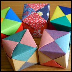 Turn Dollar Store Paper Into Origami Cubes