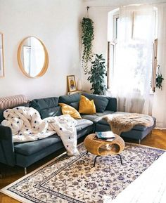 Apartment decor: 60 ideas with photos and designs - Home Fashion Trend Boho Living Room, Home And Living, Living Room Decor, Living Spaces, Modern Living, Living Rooms, Cozy Living, Small Living, Interior Design Minimalist