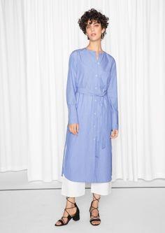 & Other Stories | Poplin Striped Shirt Dress
