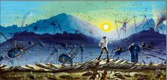 """PAINTING - """"War of the Worlds SEVEN"""" by MJBivouac"""