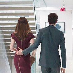 I loved how she moved his hand lol #FiftyShades #FSOG / love / Christian Grey / Jamie Dornan / Anastasia Steele / Dakota Johnson / 50 Shades