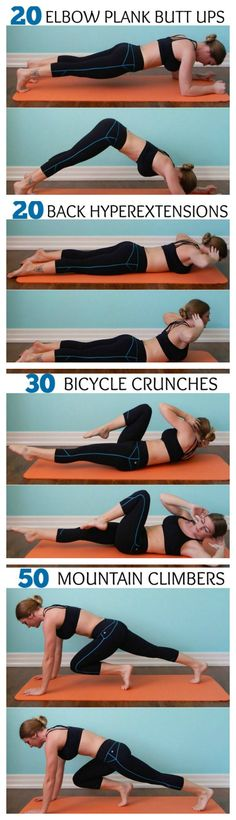 Ab routine, daily workout. This is a great series to tone your abs. Remember if something hurts to stop and modify as you need to. It's more important to be safe then anything. To find more health and fitness tips click the picture or to ask me about modifications click the picture and then contact me!