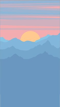 Pin oleh a+ di vector landscape illustration ideas di 2019 о Iphone Background Wallpaper, Pastel Wallpaper, Aesthetic Iphone Wallpaper, Aesthetic Wallpapers, Iphone Minimalist Wallpaper, Kunst Inspo, Minimal Art, Image Deco, Photo Wall Collage
