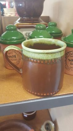 Crown Lynn 1260 - brown with green. $2 at Upper Hutt Salvation Army