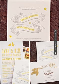 wedding invitations by one of our favorites | VIA #WEDDINGPINS.NET