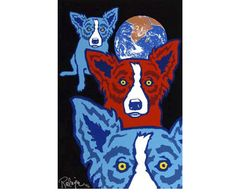 George Rodrigue Between My Good Brothers modern painting sale, painting