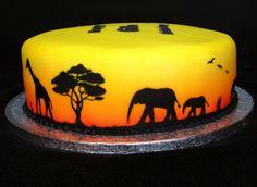 AIRBRUSHED SAFARI CAKE - AIRBRUSHED SAFARI CAKE