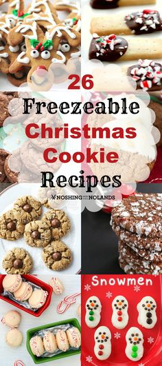 26 Freezeable Christmas Cookie Recipes by Noshing With The Nolands - When it is time to serve or make up a gifts I have a huge variety to choose from and so will you now. Let the baking begin!