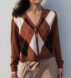 Merino wool brown cardigan