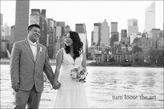 Gorgeous #LIC wedding photos, taken at @WatersEdgeNYC, by @turnloosetheart Long Island City