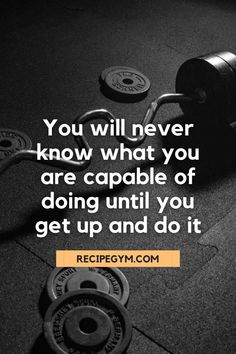 You will never know what you are capable of doing until you get up and do it #fitness #motivational #quotes #fitnessquote #wellbeing #weightloss #workout