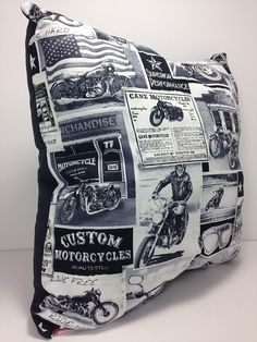 """Group One Home® designs and Handcrafts each pillow with Quality and uniqueness in mind.   Group One Home® specializes in Novelty & """"Man-Cave"""" pillows.  Each pillow is pre-f... #etsy #handmade #dogs #mothersday #fathersday #gifts #doglovers #noveltypillows #mancave #bar #motorcycle #biker"""