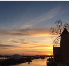 Sunset at Saline #Trapani. Ph sweetie_ph #yummysicily