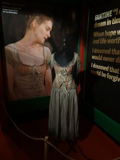 A chemise and bodice worn by Anne Hathaway as Fantine, in the film adaption of the Broadway musical Les Miserables, based on the novel by Victor Hugo. Costume design by Paco Delgado.
