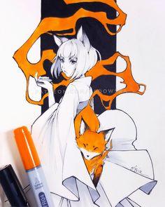 Fox by Ladowska on @DeviantArt