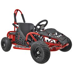 MotoTec Off Road 48v 1000w Electric Go Kart Red