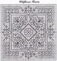 free blackwork biscornu patterns - Google Search