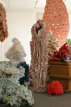 angelika arendt soft sculpture organic form large installation