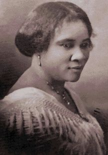 Madame C.J. Walker-- Madame C.J. Walker1910: Walker is featured in the Guinness Book of Records as the first American female self-made millionaire.