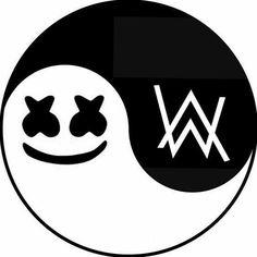 Marshmello and Alan Walker Art Allen Walker, Walker Art, Hacker Wallpaper, Screen Wallpaper, Marshmello Wallpapers, Art Chinois, Yin Yang, Electronic Music, Easy Drawings