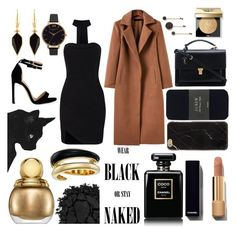 """""""Black and Gold: A Dangerous Combo"""" by vanessssa-eve ❤ liked on Polyvore featuring Olivia Burton, Marc by Marc Jacobs, J.Crew, Yves Saint Laurent, Isabel Marant, Chanel, Bobbi Brown Cosmetics, Christian Dior, Michael Kors and Urban Decay"""
