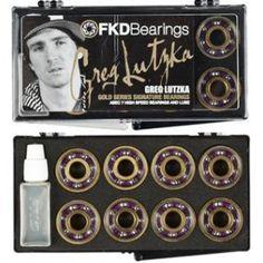 1BEFKDGLU FKD BEARINGS GOLD SERIES LUTZKA ABEC 7 Skateboard Bearings, Skateboarding, Gold, Skateboard, Skateboards, Surfboard, Yellow