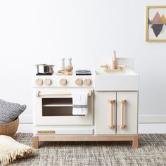 Another gift guide is up! For kids from 3 - 9 and it includes these ubercool play kitchens from See mor Play Kitchens, Best Play Kitchen, Toddler Play Kitchen, Mini Kitchen, Kitchen Grey, Kids Wooden Play Kitchen, Kitchen Doors, Small Kitchens, Kitchen Tiles