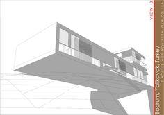 Trzy domy w Turcji z widokiem na morze   K. S. ARCHITEKCI   Kinga Brix-Grobelna • Seweryn Grobelny Stairs, Home Decor, Stairway, Staircases, Interior Design, Ladders, Home Interior Design, Ladder, Home Decoration